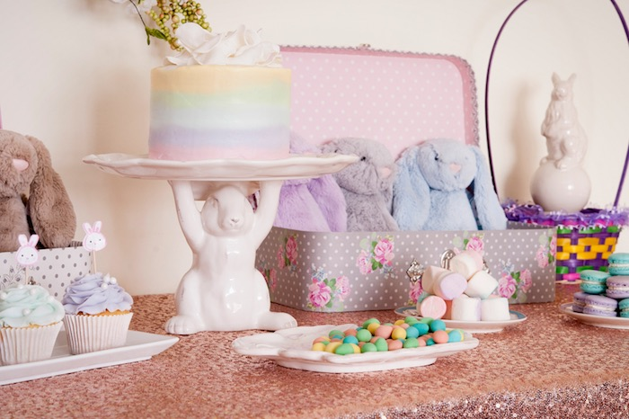 Sweet Table Details from a Pastel Easter Party via Kara's Party Ideas! KarasPartyIdeas.com (10)
