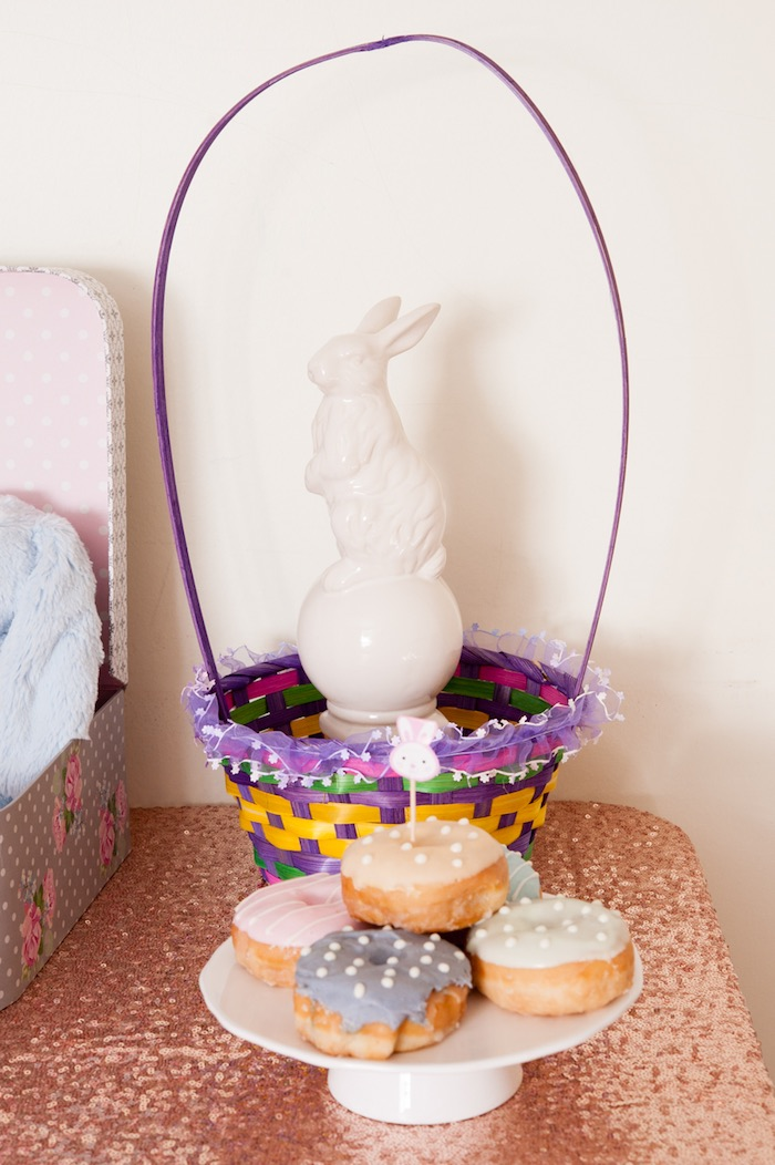Doughnuts + Decor from a Pastel Easter Party via Kara's Party Ideas! KarasPartyIdeas.com (9)