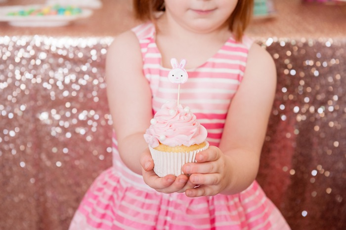 Cupcake Time from a Pastel Easter Party via Kara's Party Ideas! KarasPartyIdeas.com (8)