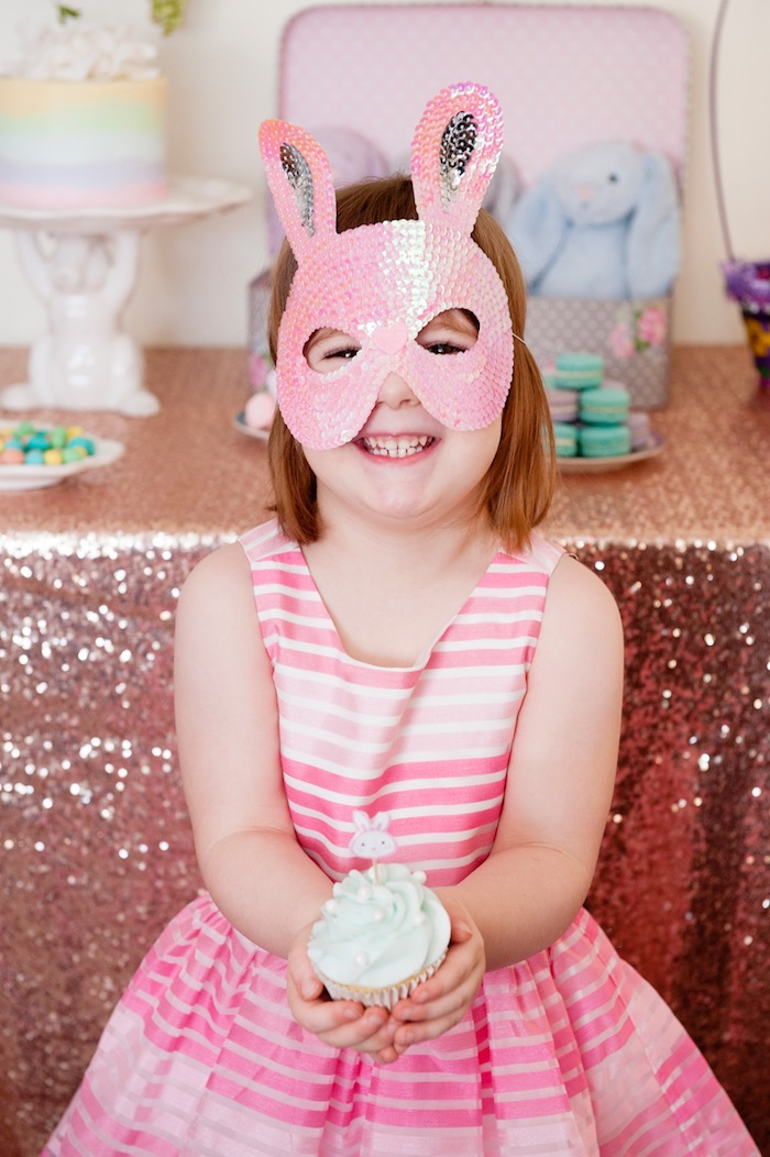 Little Girl from a Pastel Easter Party via Kara's Party Ideas! KarasPartyIdeas.com (6)