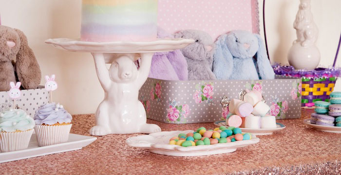 Sweet Table Details from a Pastel Easter Party via Kara's Party Ideas! KarasPartyIdeas.com (2)