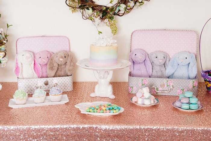 Sweet Table Detail from a Pastel Easter Party via Kara's Party Ideas! KarasPartyIdeas.com (25)