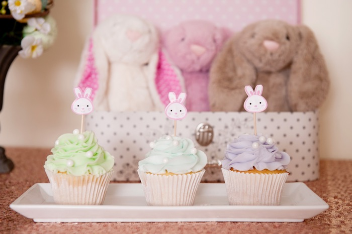 Cupcakes from a Pastel Easter Party via Kara's Party Ideas! KarasPartyIdeas.com (21)