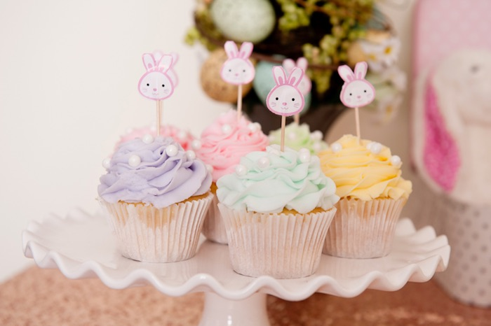 Cupcakes from a Pastel Easter Party via Kara's Party Ideas! KarasPartyIdeas.com (20)