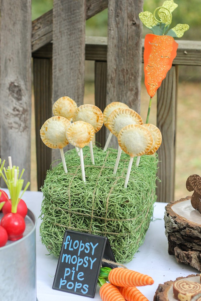 Pie Pops from a Peter Rabbit Birthday Party via Kara's Party Ideas | KarasPartyIdeas.com | The Place for All Things Party! (13)