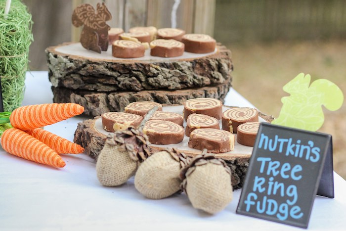 Nutkin's Tree Ring Fudge from a Peter Rabbit Birthday Party via Kara's Party Ideas | KarasPartyIdeas.com | The Place for All Things Party! (8)