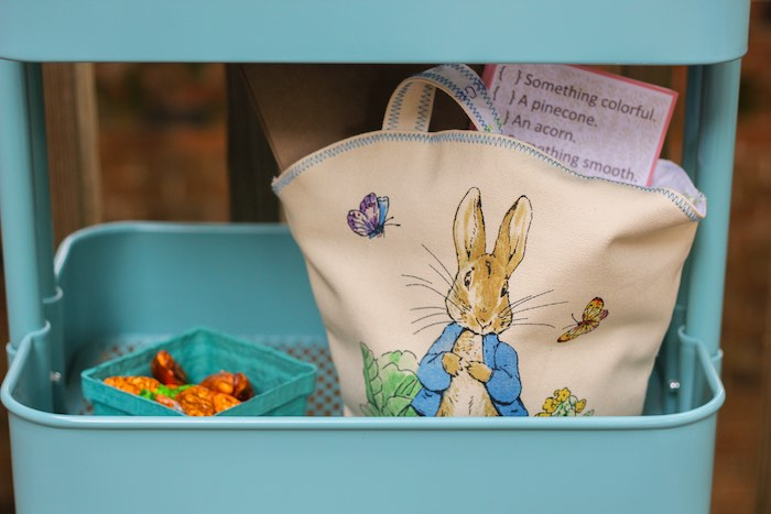Peter Rabbit Bag from a Peter Rabbit Birthday Party via Kara's Party Ideas | KarasPartyIdeas.com | The Place for All Things Party! (25)