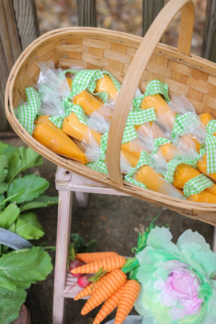 Play-dough Carrot Favors from a Peter Rabbit Birthday Party via Kara's Party Ideas | KarasPartyIdeas.com | The Place for All Things Party! (20)