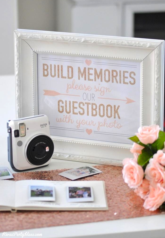 Karas Party Ideas Instax Photo Guestbook for your Wedding or