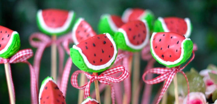 Watermelon Cake Pops from a Picnic Birthday Party via Kara's Party Ideas | KarasPartyIdeas.com | The place for All Things Party! (2)