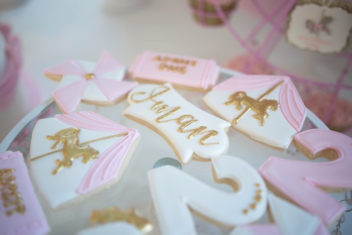 Cookies from a Pink Carousel Birthday Party via Kara's Party Ideas! KarasPartyIdeas.com (29)