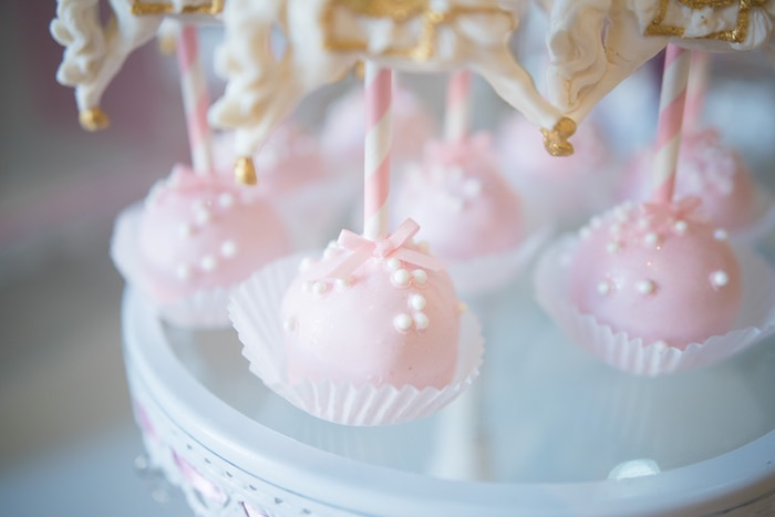 Cake Pops from a Pink Carousel Birthday Party via Kara's Party Ideas! KarasPartyIdeas.com (24)