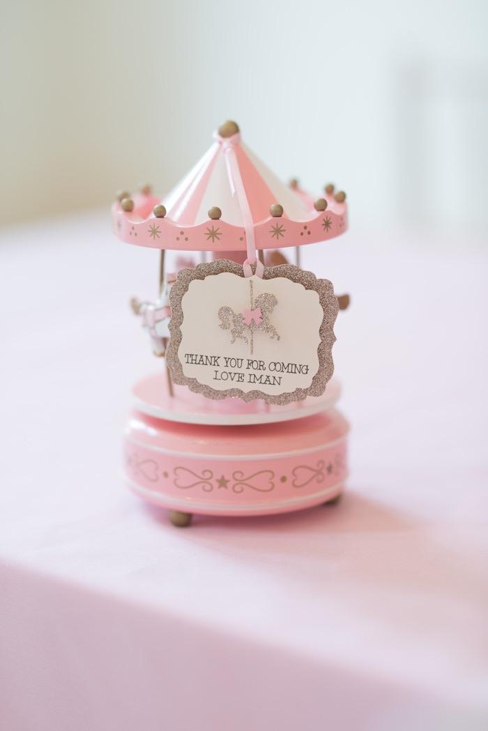 Carousel Favor from a Pink Carousel Birthday Party via Kara's Party Ideas! KarasPartyIdeas.com (11)