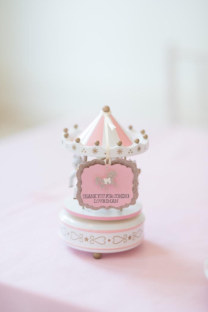 Carousel Favor from a Pink Carousel Birthday Party via Kara's Party Ideas! KarasPartyIdeas.com (10)