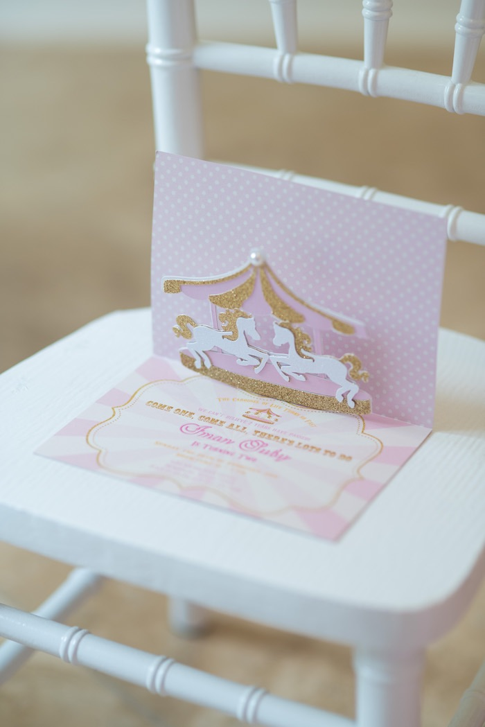 Invitation from a Pink Carousel Birthday Party via Kara's Party Ideas! KarasPartyIdeas.com (6)