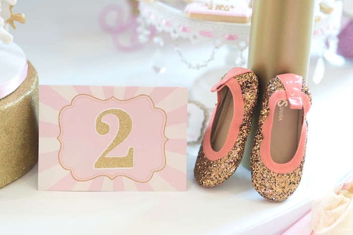 Stationery + Shoes from a Pink Carousel Birthday Party via Kara's Party Ideas! KarasPartyIdeas.com (5)