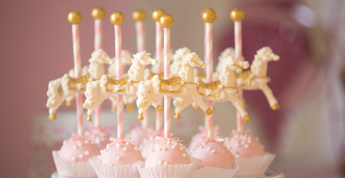 Carousel Cake Pops from a Pink Carousel Birthday Party via Kara's Party Ideas! KarasPartyIdeas.com (3)