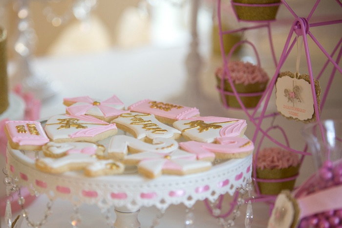 Cookies from a Pink Carousel Birthday Party via Kara's Party Ideas! KarasPartyIdeas.com (40)