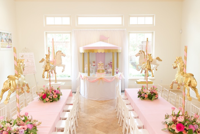 Kara S Party Ideas Pink Carousel Birthday Party Kara S