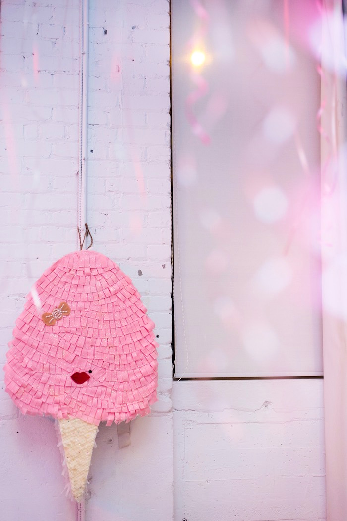 Cotton Candy Piñata from a Pink Glam Corporate Birthday Party via Kara's Party Ideas! KarasPartyIdeas.com (19)