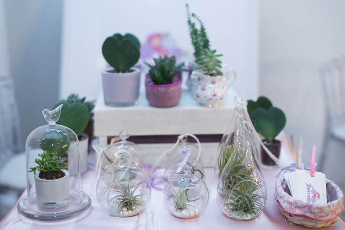 Mini Succulent Terrariums + Arrangements from a Pink Glam Corporate Birthday Party via Kara's Party Ideas! KarasPartyIdeas.com (13)