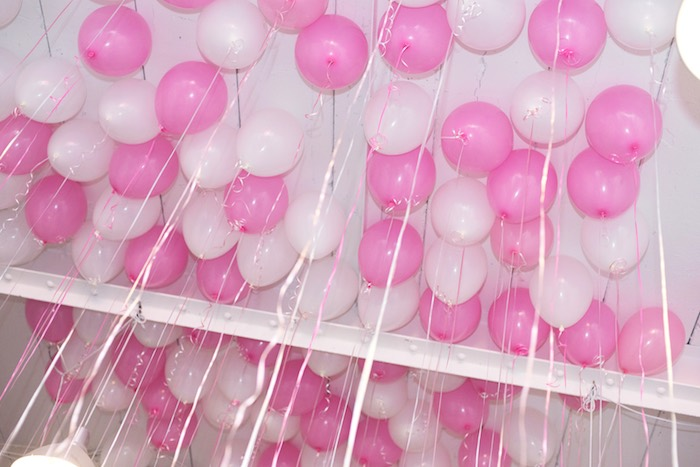Balloon Covered Ceiling + Canopy from a Pink Glam Corporate Birthday Party via Kara's Party Ideas! KarasPartyIdeas.com (10)