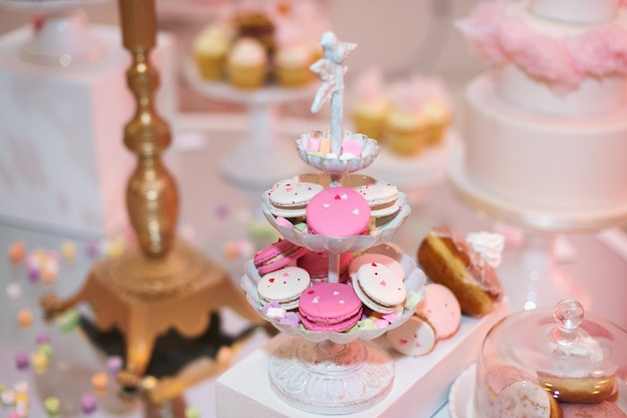 Macarons from a Pink Glam Corporate Birthday Party via Kara's Party Ideas! KarasPartyIdeas.com (23)