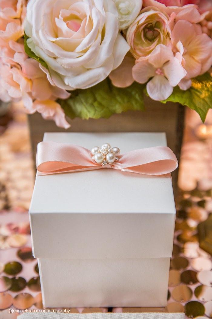Favor Box from a Pink + Gold 1st Birthday Party via Kara's Party Ideas | KarasPartyIdeas.com (20)