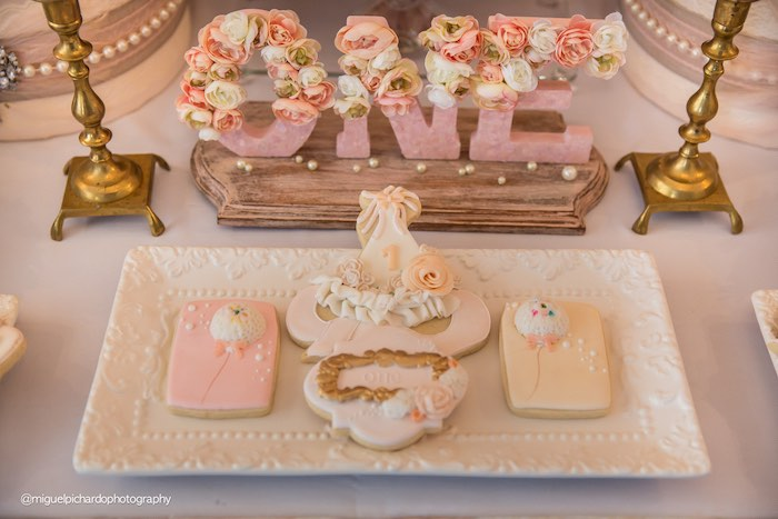 Details from a Pink + Gold 1st Birthday Party via Kara's Party Ideas | KarasPartyIdeas.com (40)