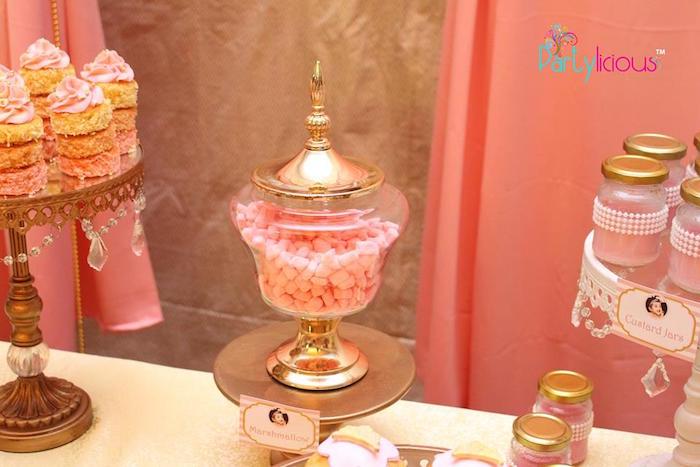 Pink Buttercream Mints from a Pink + Gold Princess Party via Kara's Party Ideas | KarasPartyIdeas.com (26)