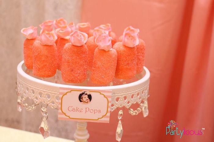 Cake Pops from a Pink + Gold Princess Party via Kara's Party Ideas | KarasPartyIdeas.com (23)