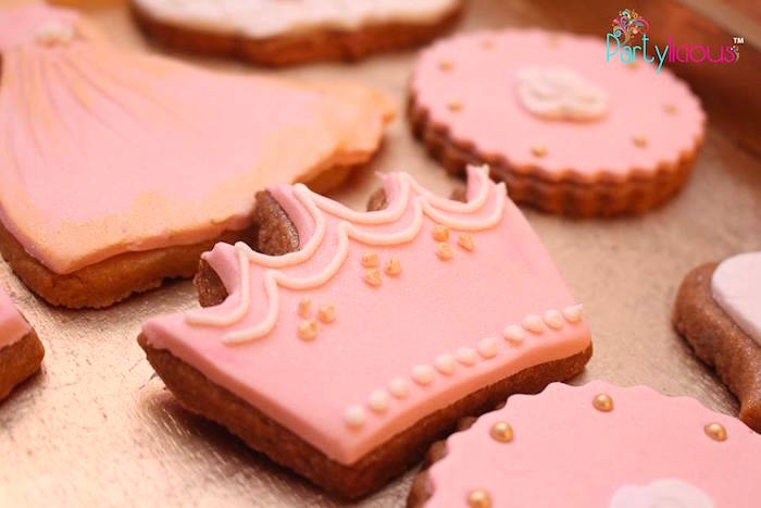 Crown Cookie from a Pink + Gold Princess Party via Kara's Party Ideas | KarasPartyIdeas.com (22)