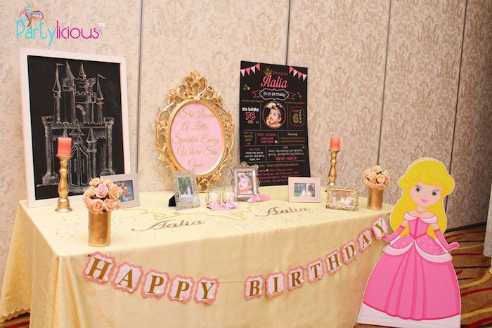 Fact Table from a Pink + Gold Princess Party via Kara's Party Ideas | KarasPartyIdeas.com (20)