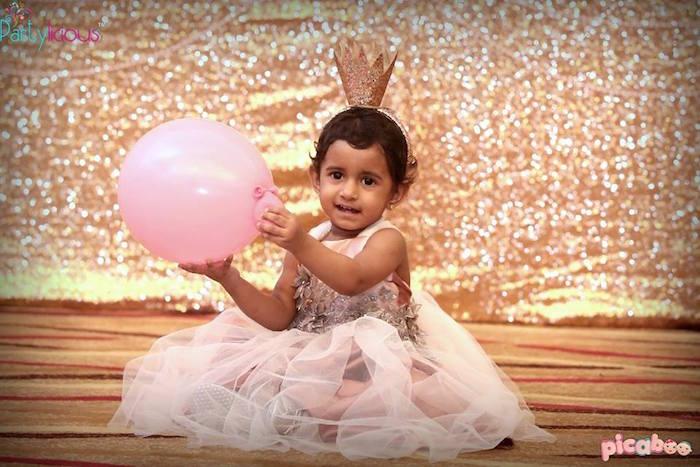 Birthday Girl from a Pink + Gold Princess Party via Kara's Party Ideas | KarasPartyIdeas.com (19)