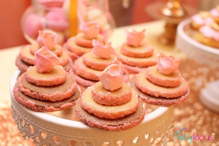 Tarts from a Pink + Gold Princess Party via Kara's Party Ideas | KarasPartyIdeas.com (17)