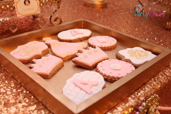Cookies from a Pink + Gold Princess Party via Kara's Party Ideas | KarasPartyIdeas.com (16)