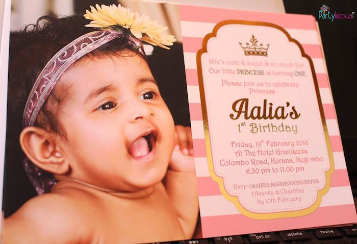 Invitation from a Pink + Gold Princess Party via Kara's Party Ideas | KarasPartyIdeas.com (5)