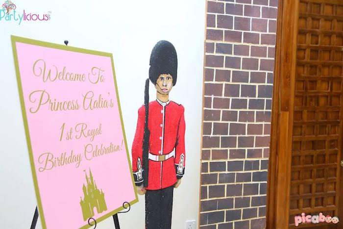 Entrance to a Pink + Gold Princess Party via Kara's Party Ideas | KarasPartyIdeas.com (4)