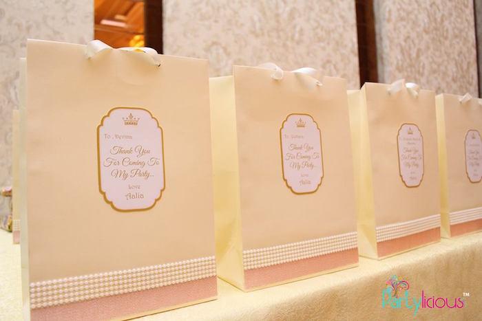 Favor Sacks from a Pink + Gold Princess Party via Kara's Party Ideas | KarasPartyIdeas.com (3)