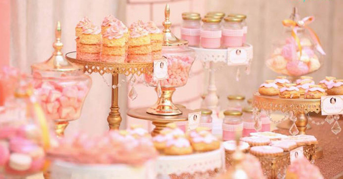 Sweets from a Pink + Gold Princess Party via Kara's Party Ideas | KarasPartyIdeas.com (2)