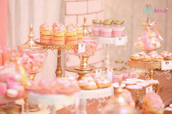 Sweets from a Pink + Gold Princess Party via Kara's Party Ideas | KarasPartyIdeas.com (33)