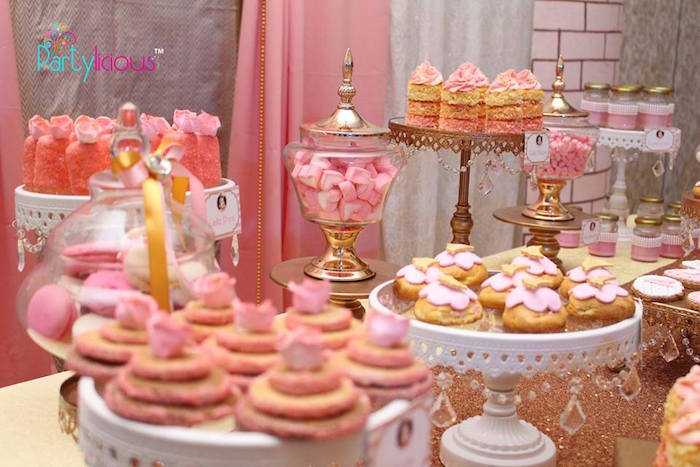 Sweets from a Pink + Gold Princess Party via Kara's Party Ideas | KarasPartyIdeas.com (30)