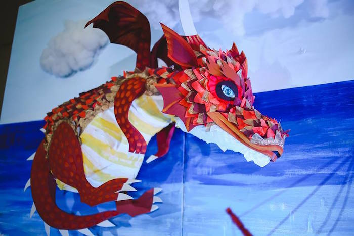 Dragon from a Prince Caspian Themed Birthday Party via Kara's Party Ideas | The Place for All Things Party! KarasPartyIdeas.com (37)