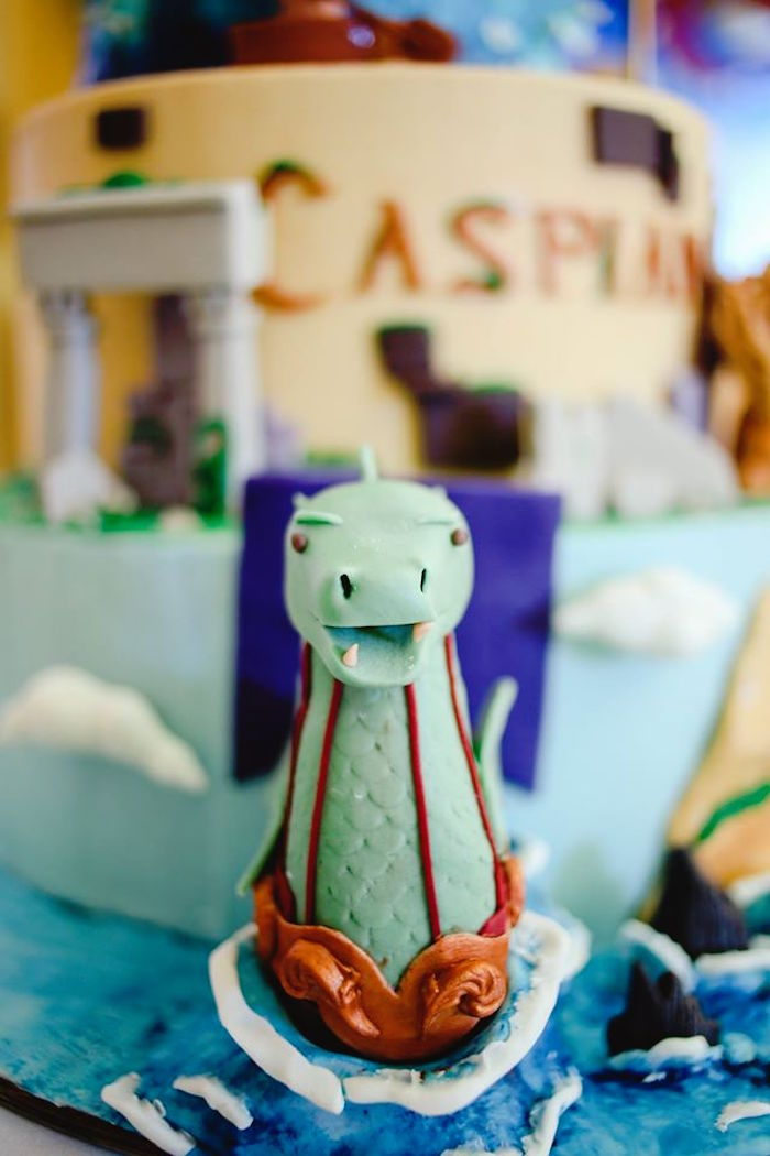 Cake Detail from a Prince Caspian Themed Birthday Party via Kara's Party Ideas | The Place for All Things Party! KarasPartyIdeas.com (36)