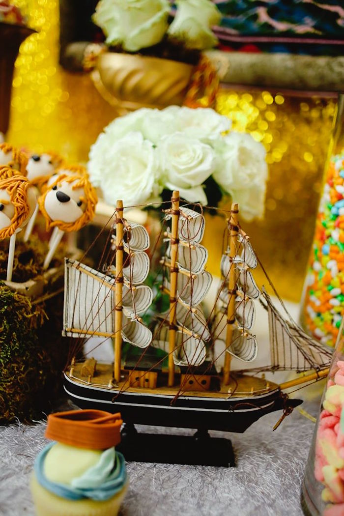 Ship from a Prince Caspian Themed Birthday Party via Kara's Party Ideas | The Place for All Things Party! KarasPartyIdeas.com (34)