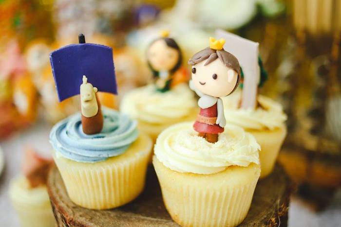 Cupcakes from a Prince Caspian Themed Birthday Party via Kara's Party Ideas | The Place for All Things Party! KarasPartyIdeas.com (30)