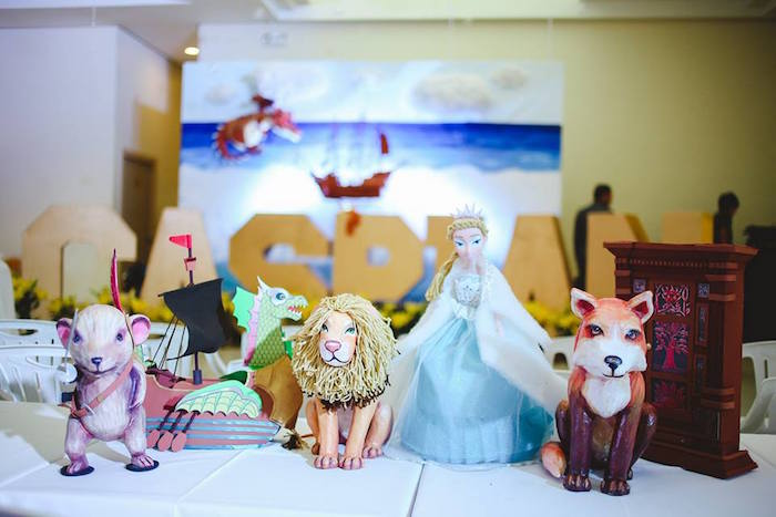 Character Decor Pieces from the Chronicles of Narnia from a Prince Caspian Themed Birthday Party via Kara's Party Ideas | The Place for All Things Party! KarasPartyIdeas.com (29)