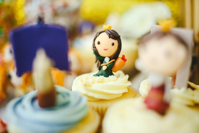 Cupcake from a Prince Caspian Themed Birthday Party via Kara's Party Ideas | The Place for All Things Party! KarasPartyIdeas.com (26)