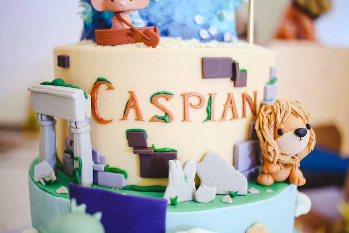 Cake Detail from a Prince Caspian Themed Birthday Party via Kara's Party Ideas | The Place for All Things Party! KarasPartyIdeas.com (17)