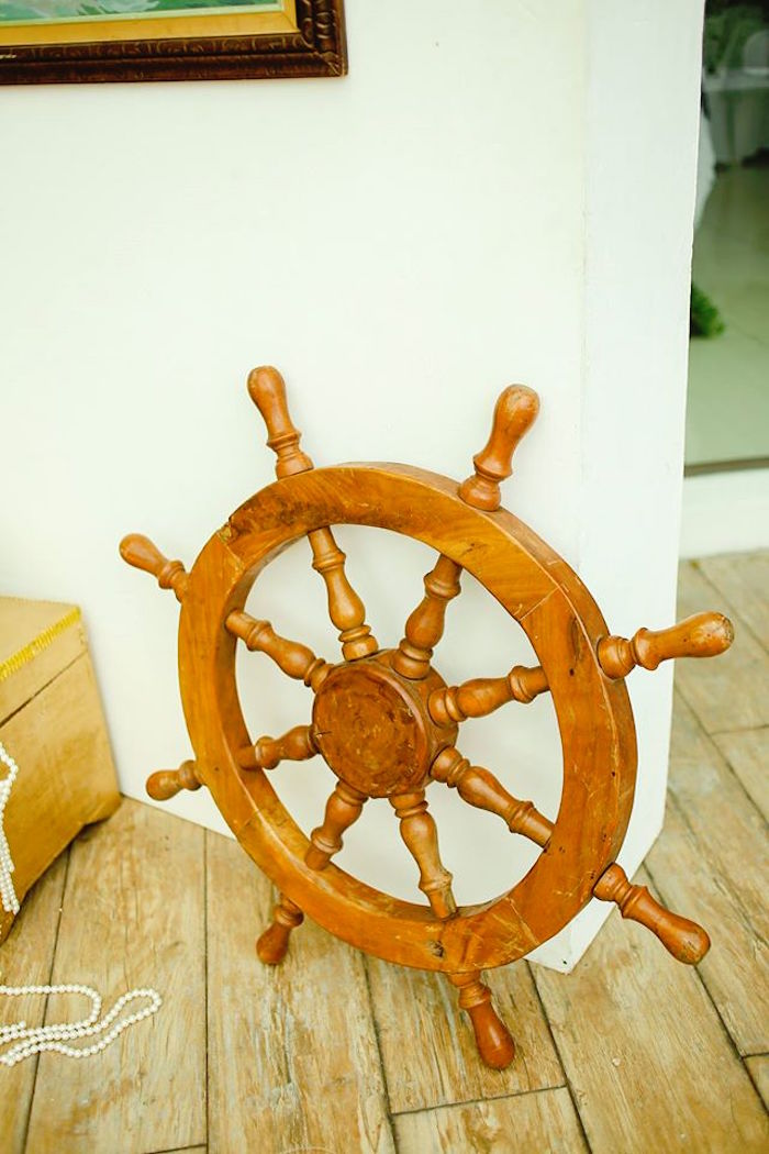 Helm of a Ship from a Prince Caspian Themed Birthday Party via Kara's Party Ideas | The Place for All Things Party! KarasPartyIdeas.com (16)